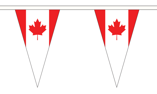 Canada Triangle Bunting