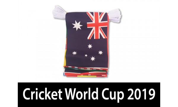 2019 Cricket World Cup Small Bunting - 6 metres