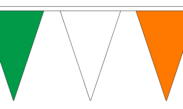 Green, White and Orange Triangle Bunting