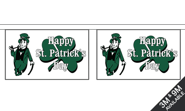 Happy St Patricks Day (white) Bunting