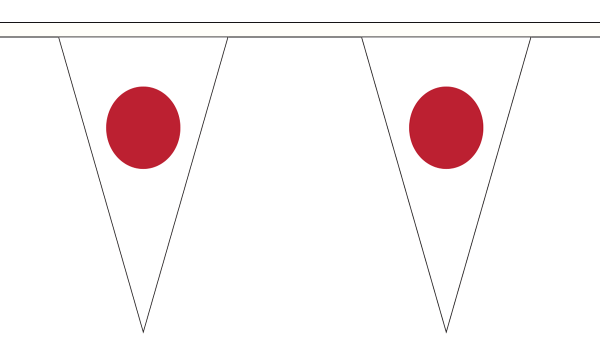 Japan Triangle Bunting