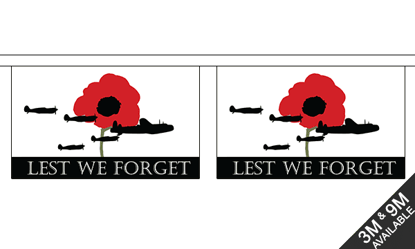 Lest We Forget (RAF) Bunting