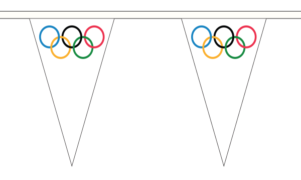 Olympic Triangle Bunting