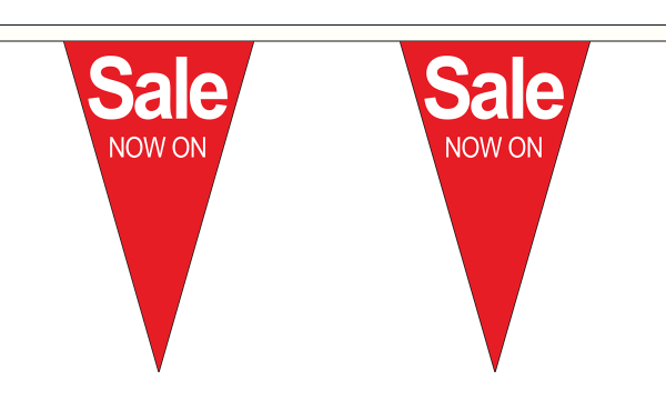 Sale Now On Triangle Bunting