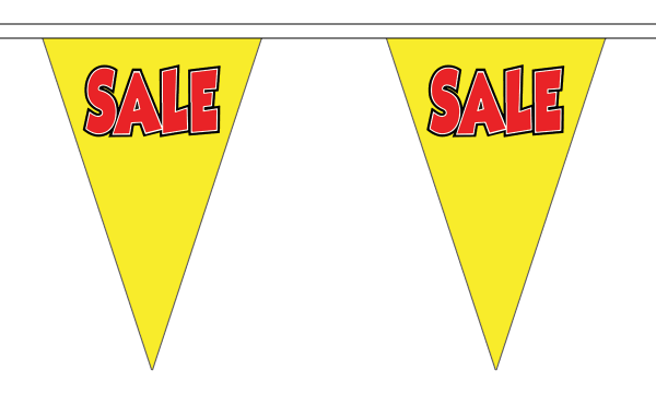 Sale Yellow Triangle Bunting