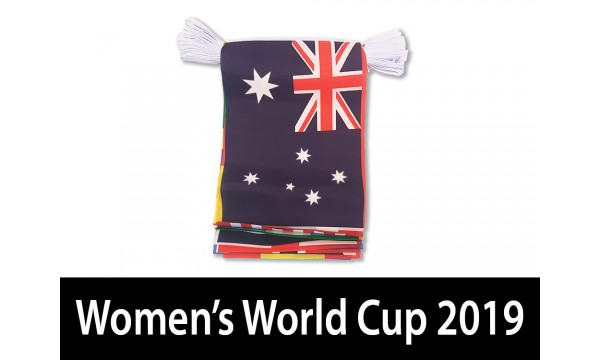 2019 Women's World Cup Bunting - 7 metre length (24 flags)