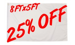 25% OFF Selected 8ft x 5ft
