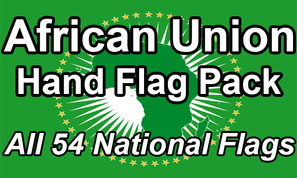 African Union - Hand Waving Flag Pack