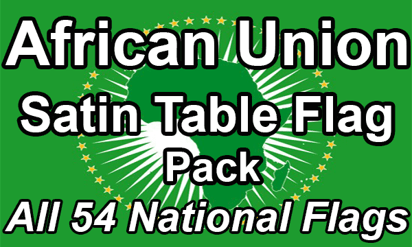 African Union - Satin Table Flag Pack