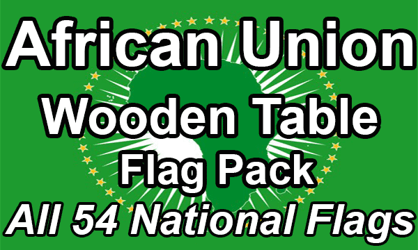 African Union - Small Wooden Table Flag Pack