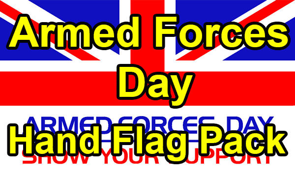 Armed Forces Day - Hand Waving Flag Pack