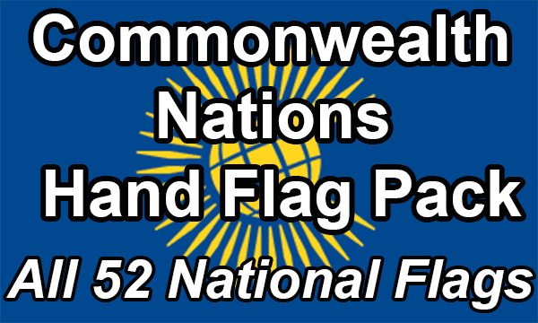 Commonwealth Nations - Hand Waving Flag Pack (Now 53 countries)