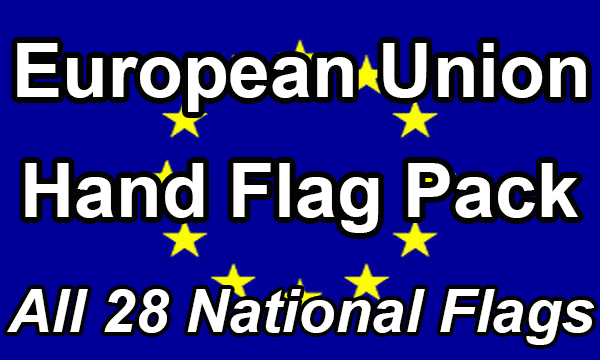 European Union - 28 Hand Waving Flag Pack