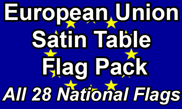 European Union - Satin Table Flag Pack