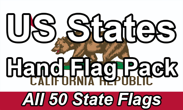 US States - Hand Waving Flag Pack