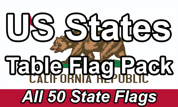 US States - Table Flag Pack
