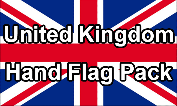 United Kingdom - Hand Waving Flag Pack