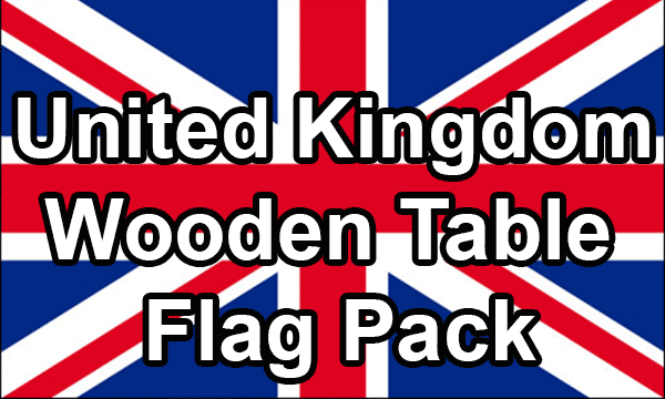 United Kingdom - Small Wooden Table Flag Pack