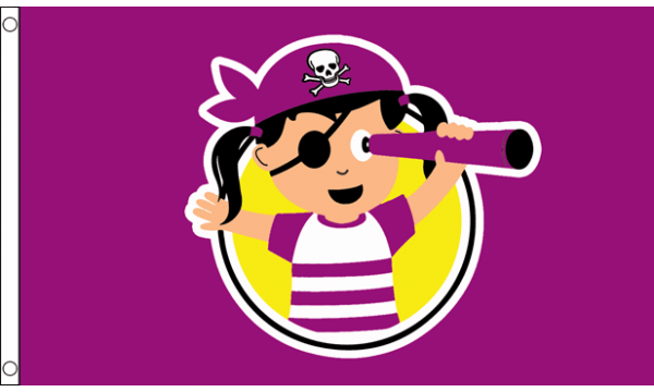 Pirate Child Girl Flag