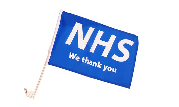 NHS - We Thank You Car Flag/s (Buy One Get One Free)