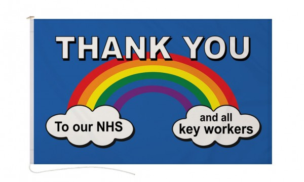 DuraFlag® Thank You NHS/Key Workers Flag- Premium Quality (Buy One Get One Free)