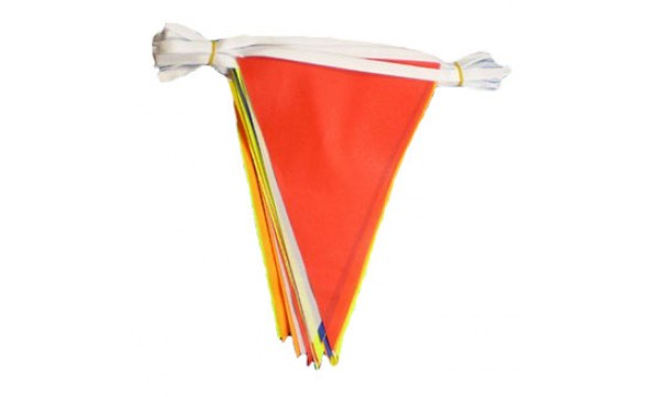 Royal Blue and Yellow Triangle Bunting