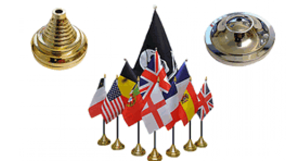 No Bases Olympic Table Flags Pack Of 12