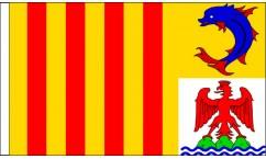 Provence-Alpes-Cote d'Azur Table Flags