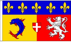 Rhone-Alpes Table Flags