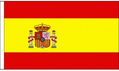 Spain Table Flags