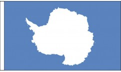 Antarctica Hand Waving Flags