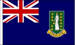 British Virgin Islands Hand Waving Flags