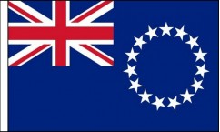 Cook Islands Hand Waving Flags