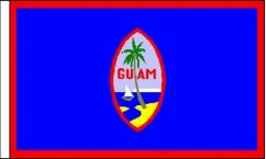 Guam Hand Waving Flags
