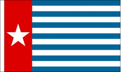 West Papua Hand Waving Flags