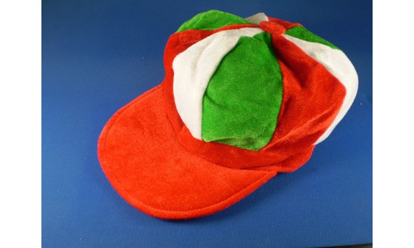Red, White and Green Flat Cap