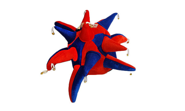Red and Royal Blue Jester Hat