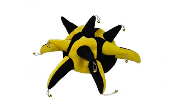 Black and Yellow Jester Hat
