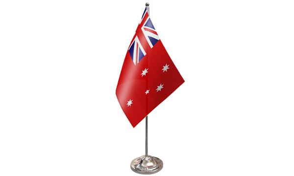 Australia Red Ensign Satin Table Flag