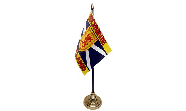 Bonnie Scotland Satin Table Flag