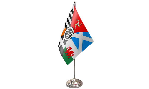 Celtic Nations Satin Table Flag