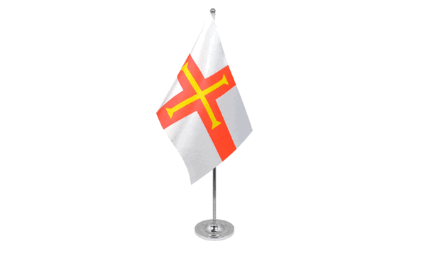 Guernsey Satin Table Flag