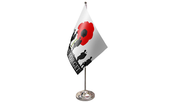 Lest We Forget (Army) Satin Table Flag