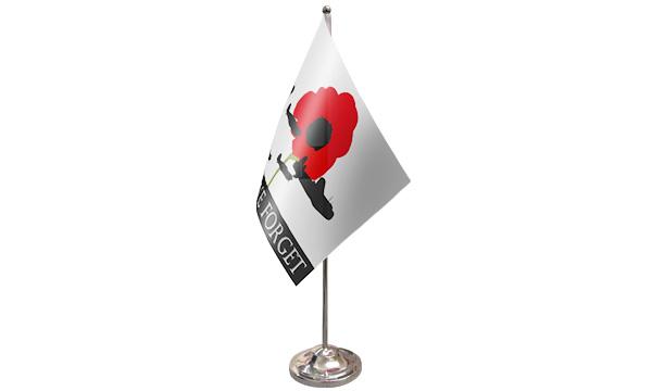 Lest We Forget (RAF) Satin Table Flag