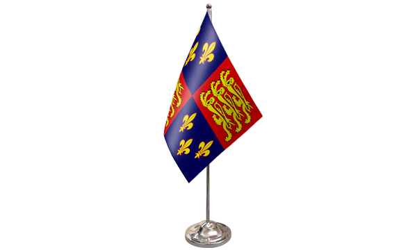 Royal Banner 16th Century Satin Table Flag