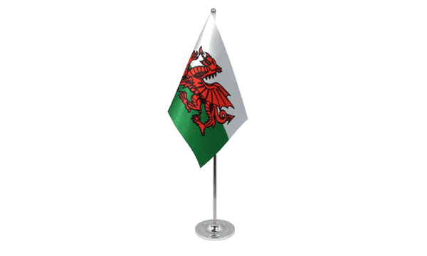 Wales Satin Table Flag