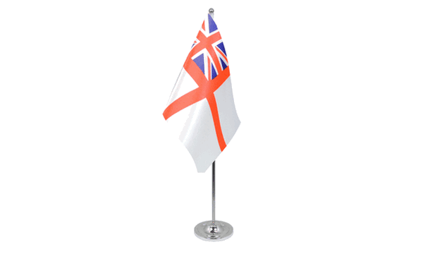 White Ensign Satin Table Flag