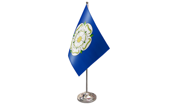 Yorkshire New Satin Table Flag