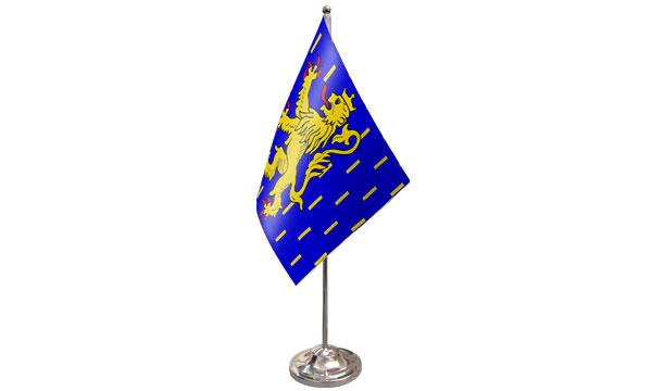 Franche-Comte Satin Table Flag
