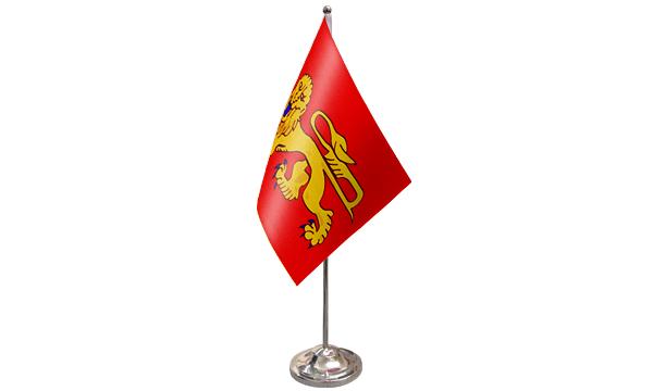 Aquitaine Satin Table Flag